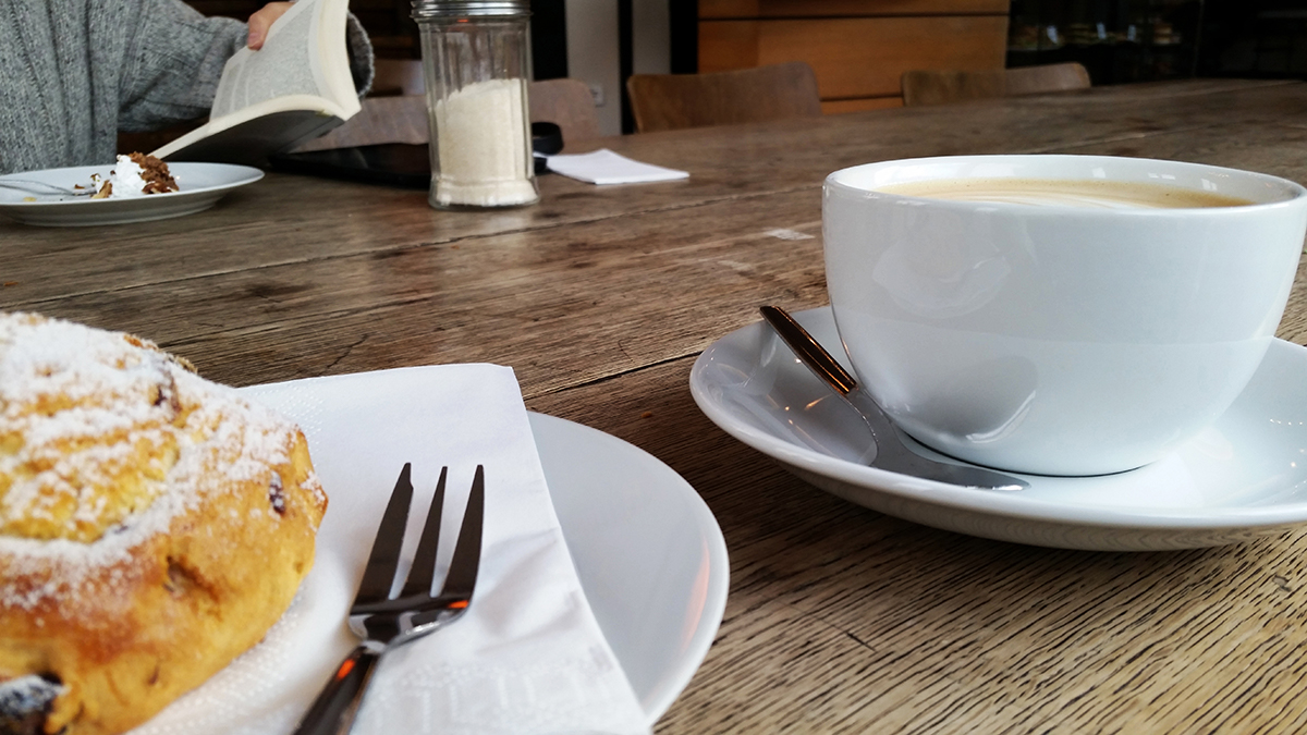 St Oberholz coffeeshop, table